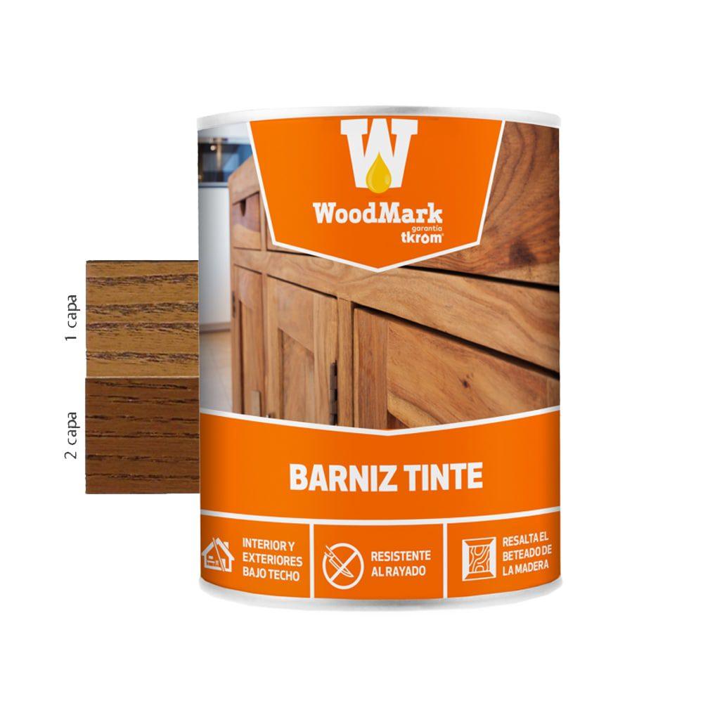 Barniz tinte brillante Woodmark color nogal oscuro 1   Potspintura.com