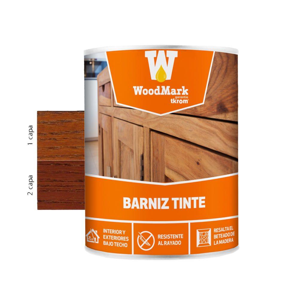 Barniz tinte brillante Woodmark color teca 1   Potspintura.com