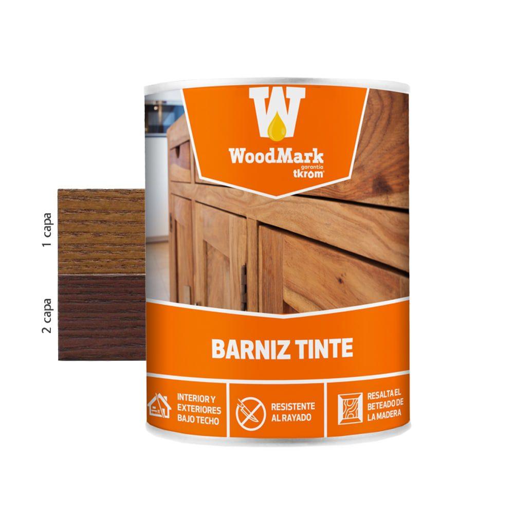 Barniz tinte satinado Woodmark color nogal oscuro 1 | Potspintura.com