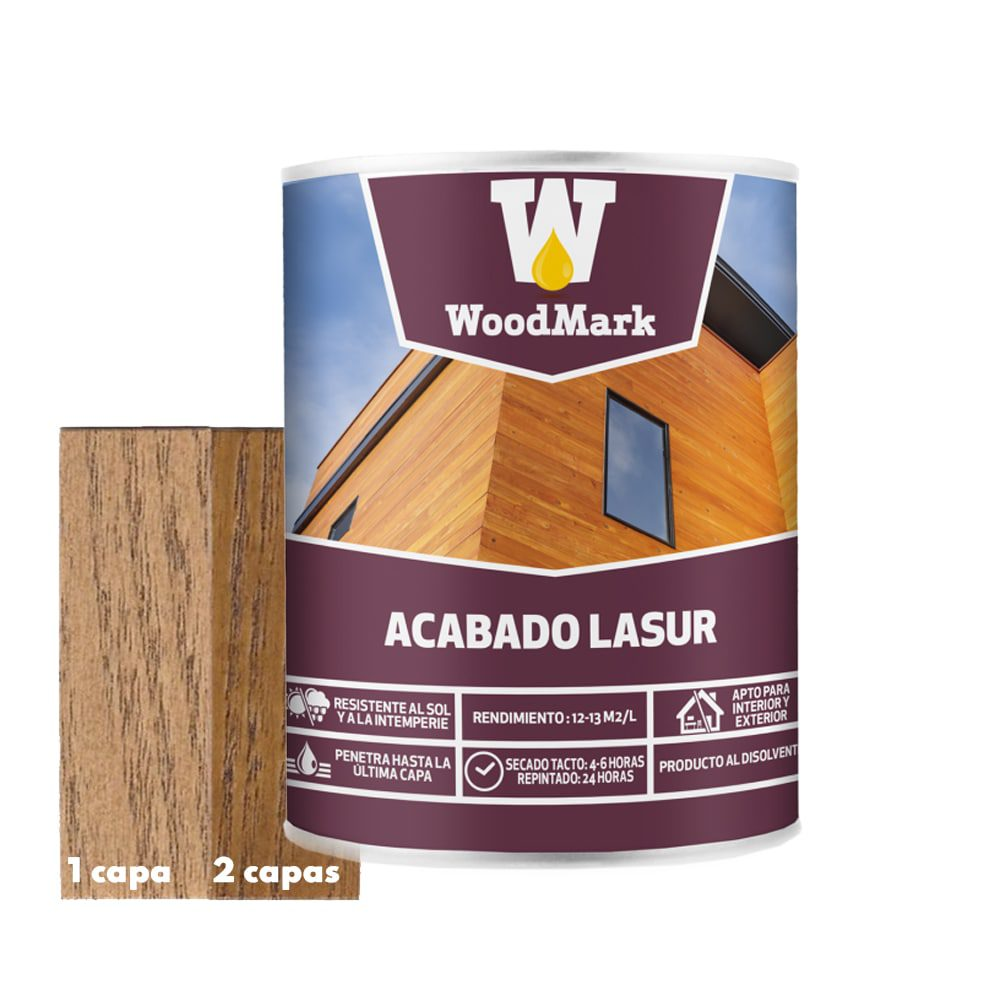 Lasur color nogal Woodmark de acabado satinado 1   Potspintura.com