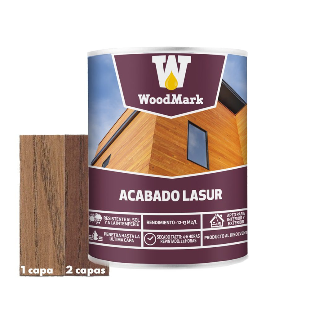 Lasur color palisandro Woodmark de acabado satinado 1 | Potspintura.com