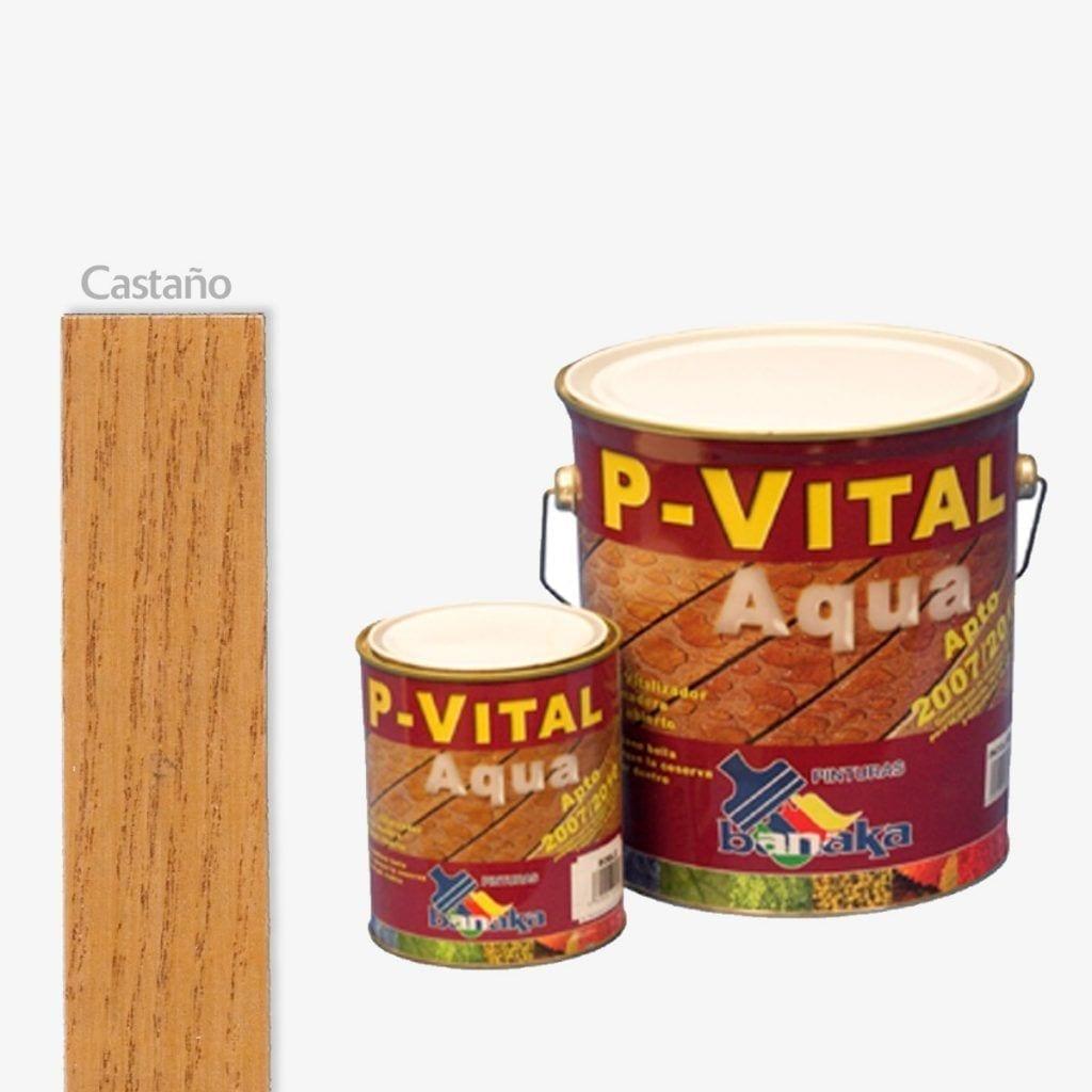 Protector para madera color castaño P-Vital Aqua de Banaka 1 | Potspintura.com