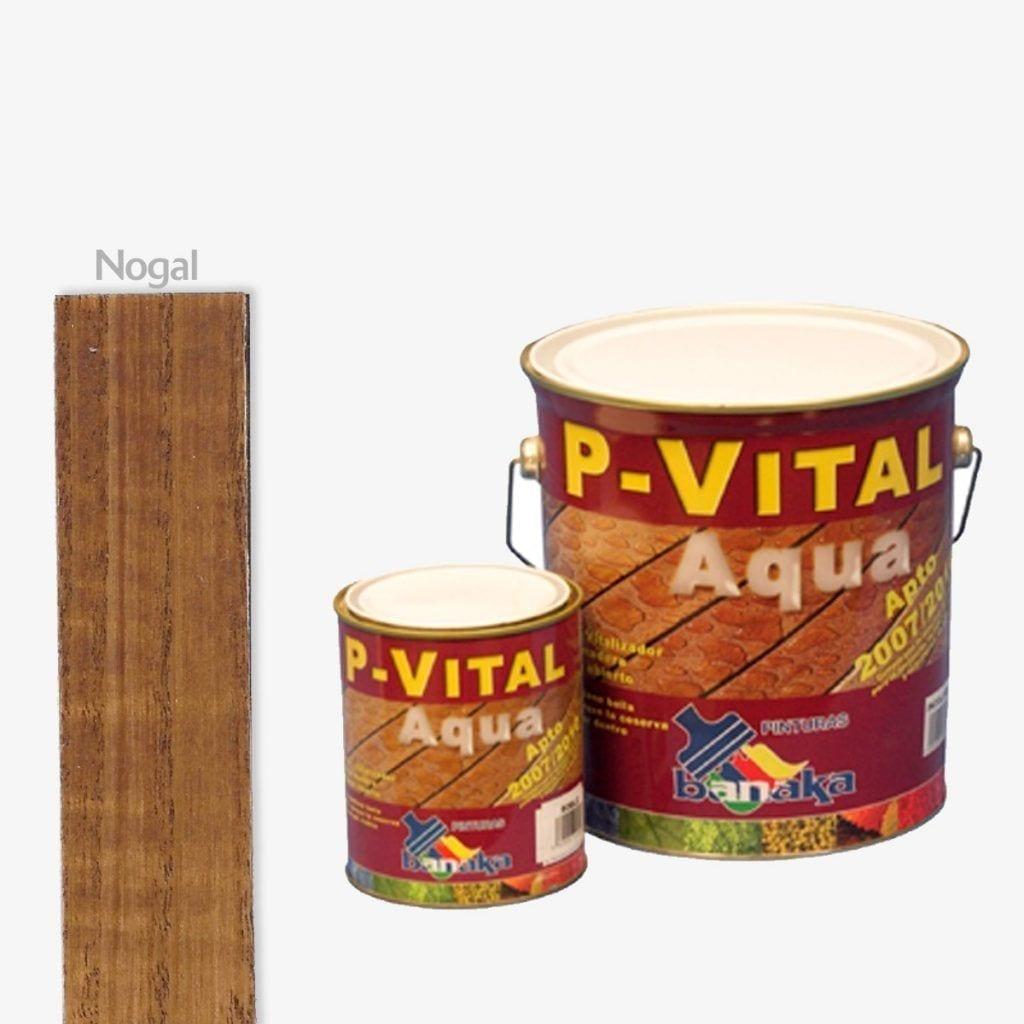 Protector para madera color nogal P-Vital Aqua de Banaka 1   Potspintura.com