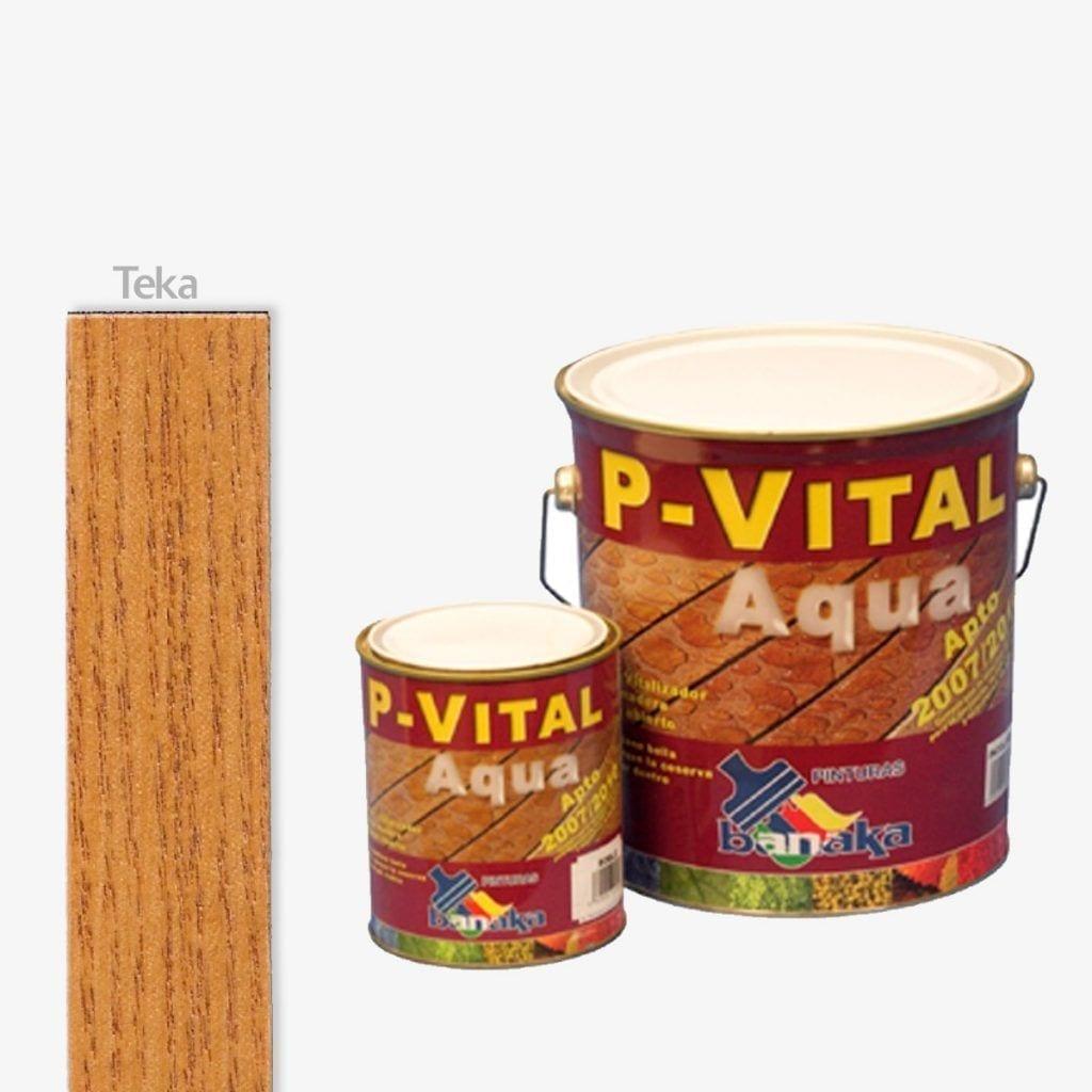 Protector para madera color teca P-Vital Aqua de Banaka 1   Potspintura.com