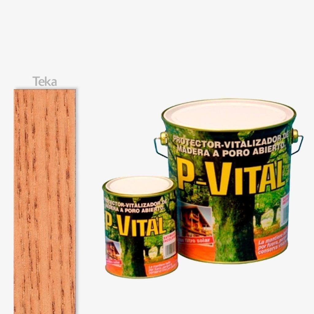 Protector para madera satinado color teca P-Vital de Banaka 1   Potspintura.com