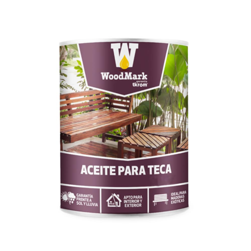 Aceite para teca Woodmark color teca 1 | Potspintura.com