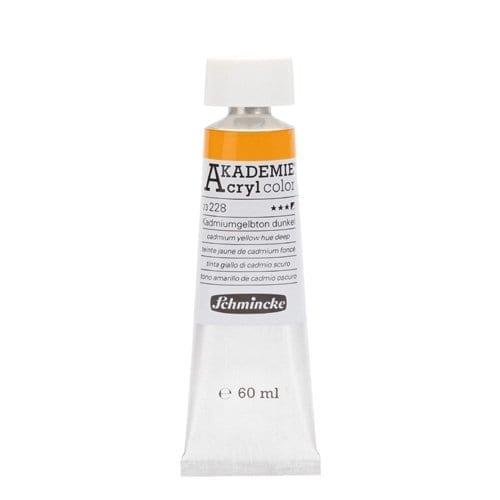 Pintura acrílica en tubo amarillo de cadmio oscuro Akademie Acryl de Schmincke 1 | Potspintura.com