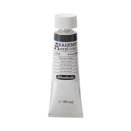 Pintura acrílica en tubo gris de payne Akademie Acryl de Schmincke 1 | Potspintura.com