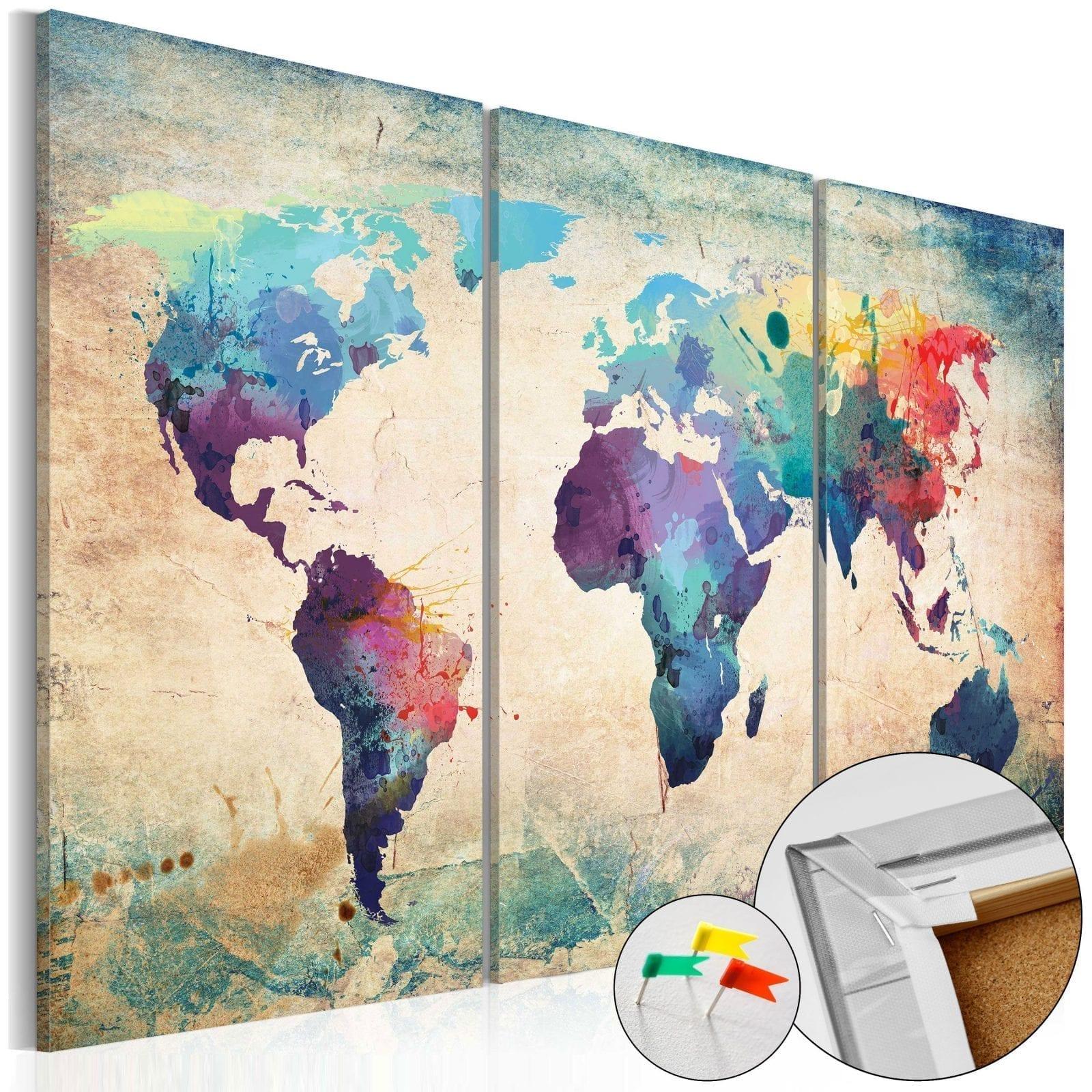 Tablero de corcho - Rainbow Map 1 | Potspintura.com