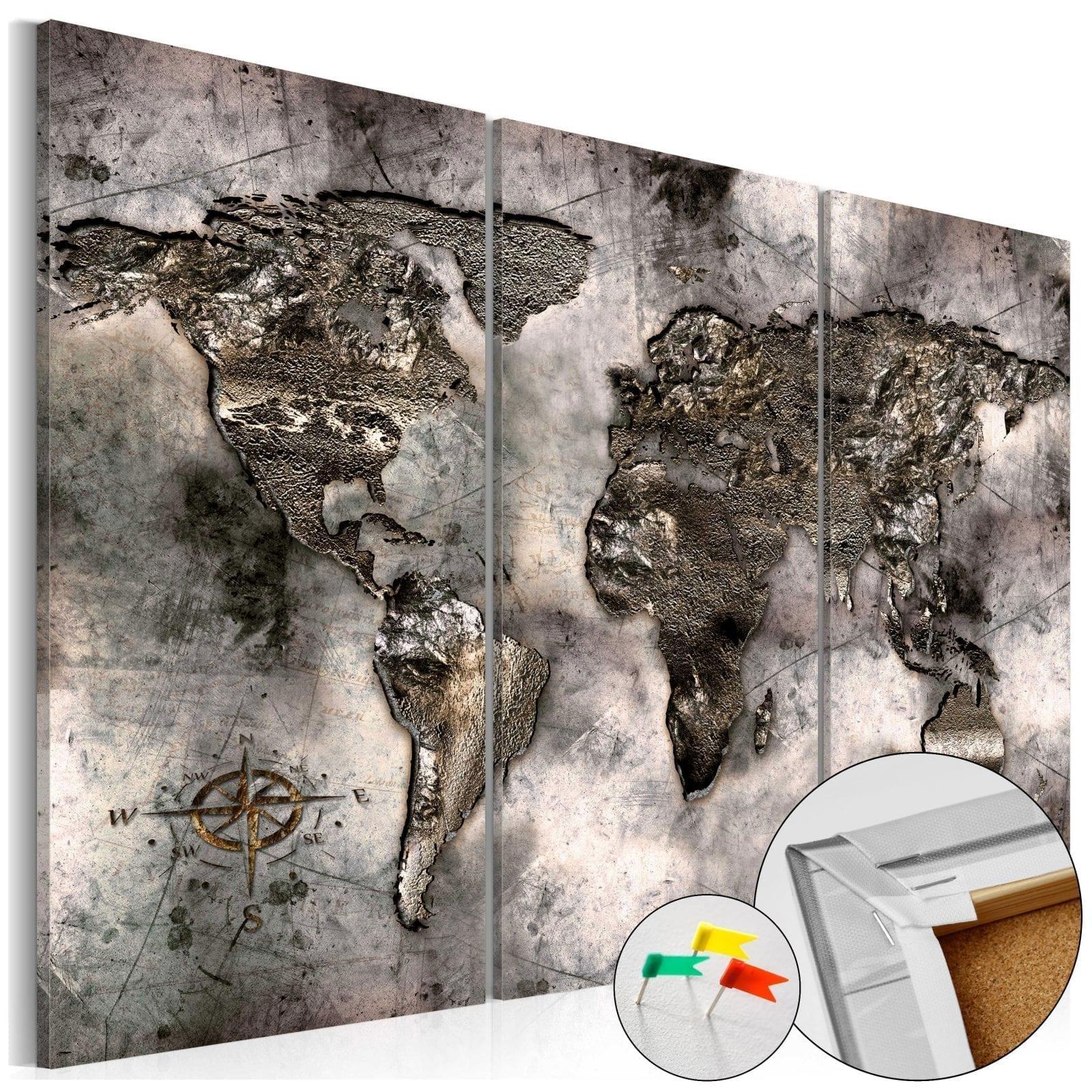Tablero de corcho - Opalescent Map 1   Potspintura.com