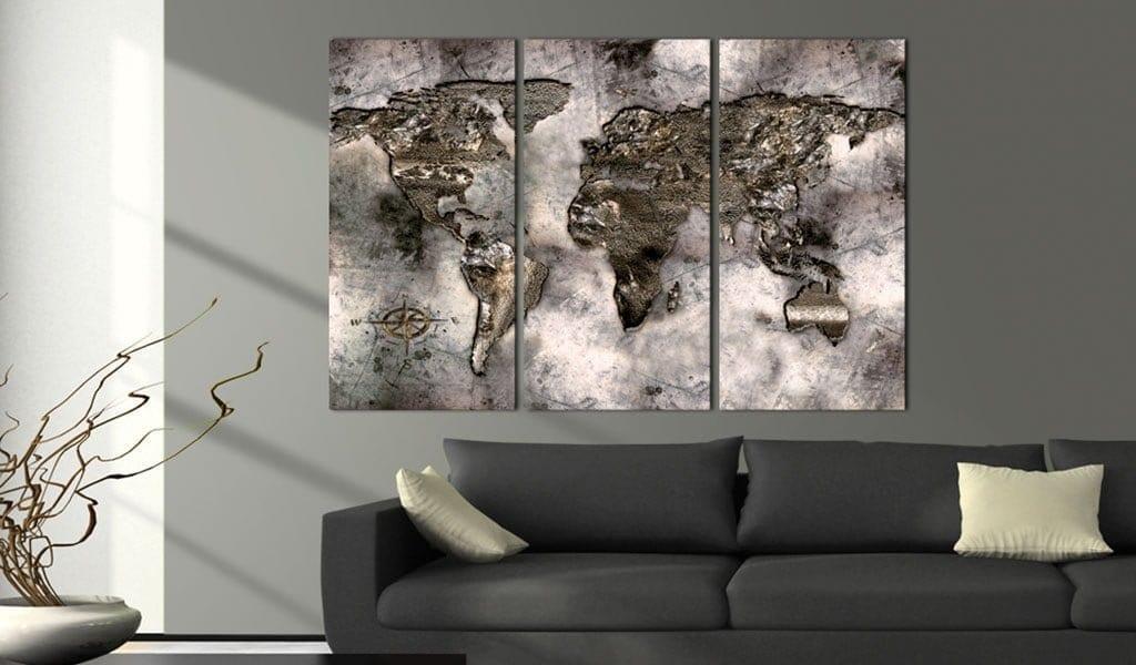 Tablero de corcho - Opalescent Map 2   Potspintura.com