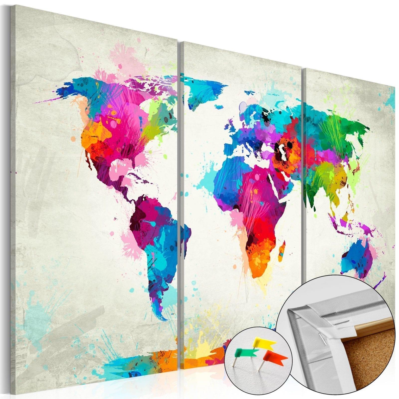 Tablero de corcho - Colourful Expression 1 | Potspintura.com