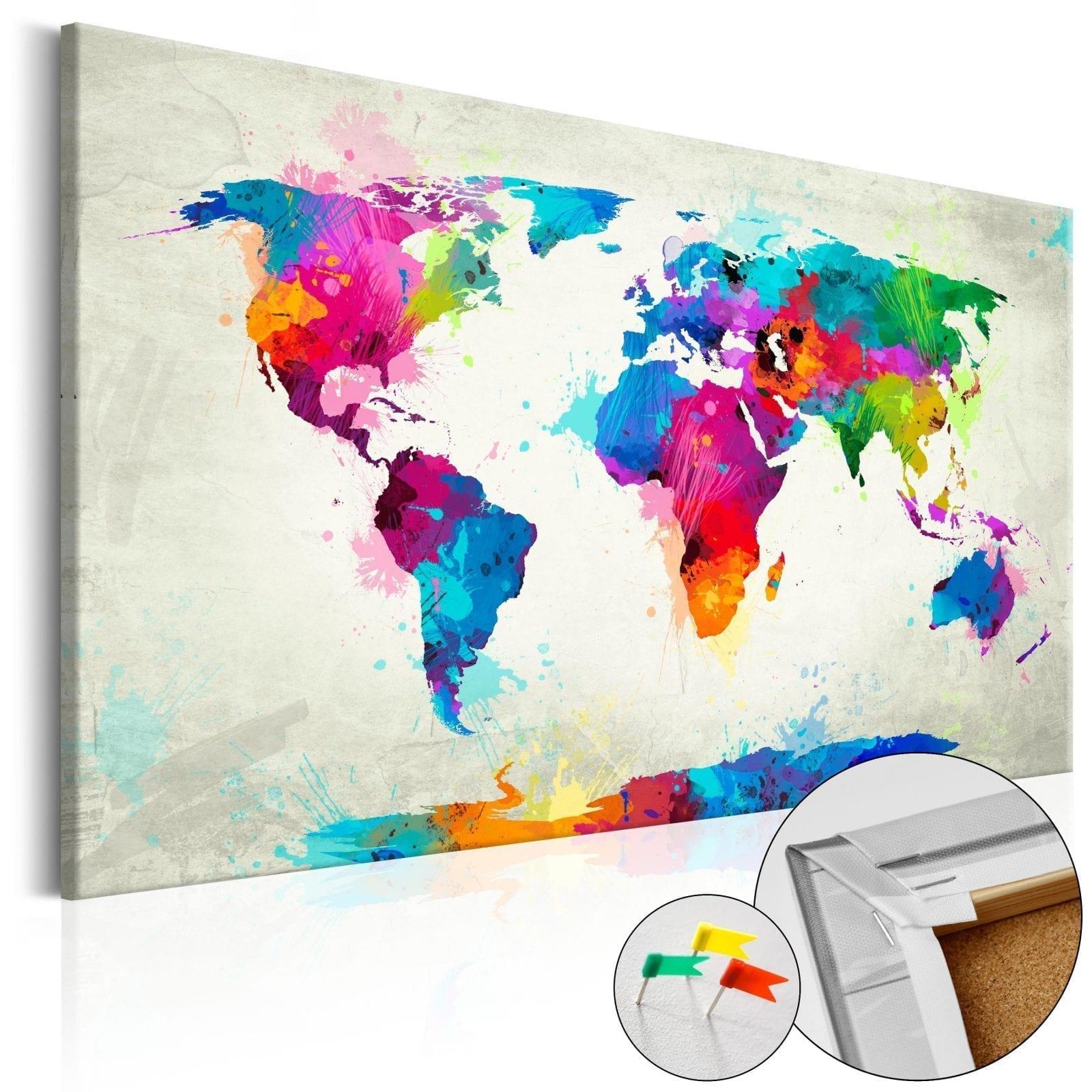 Tablero de corcho - An Explosion of Colors 1 | Potspintura.com