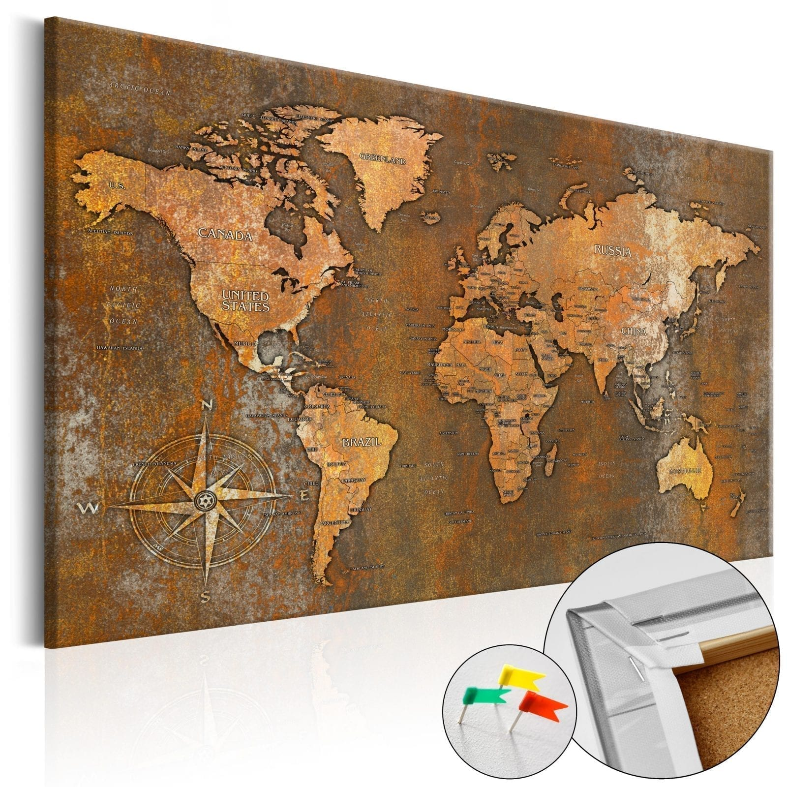 Tablero de corcho - Rusty World 1 | Potspintura.com