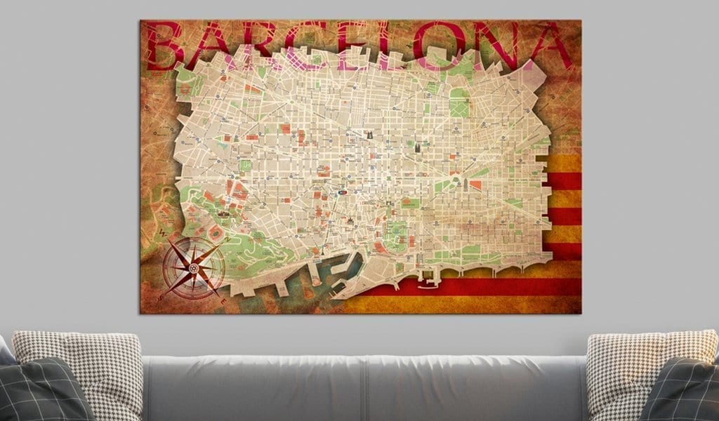 Tablero de corcho - Map of Barcelona 2   Potspintura.com