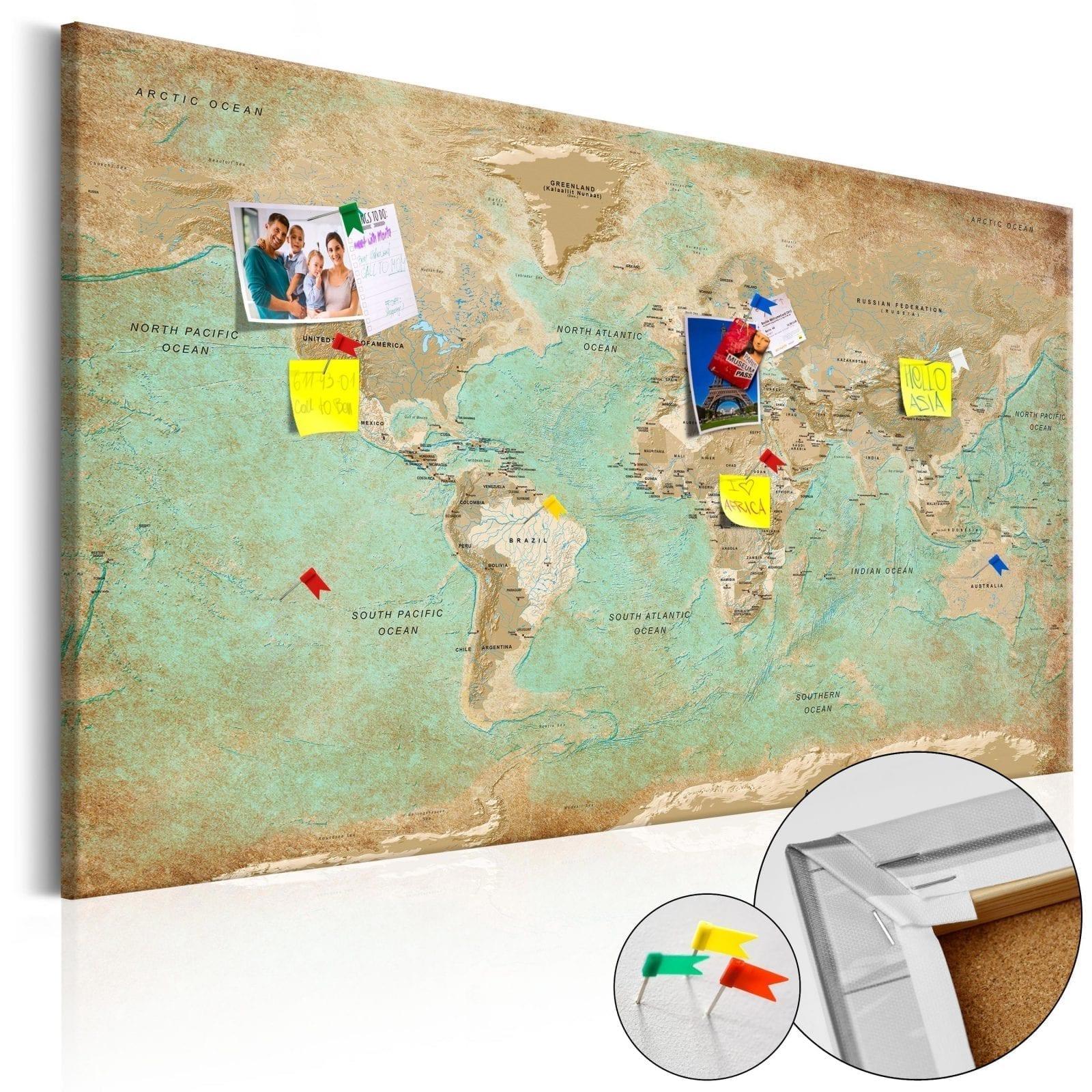 Tablero de corcho - El viaje de verdeceladón 1   Potspintura.com