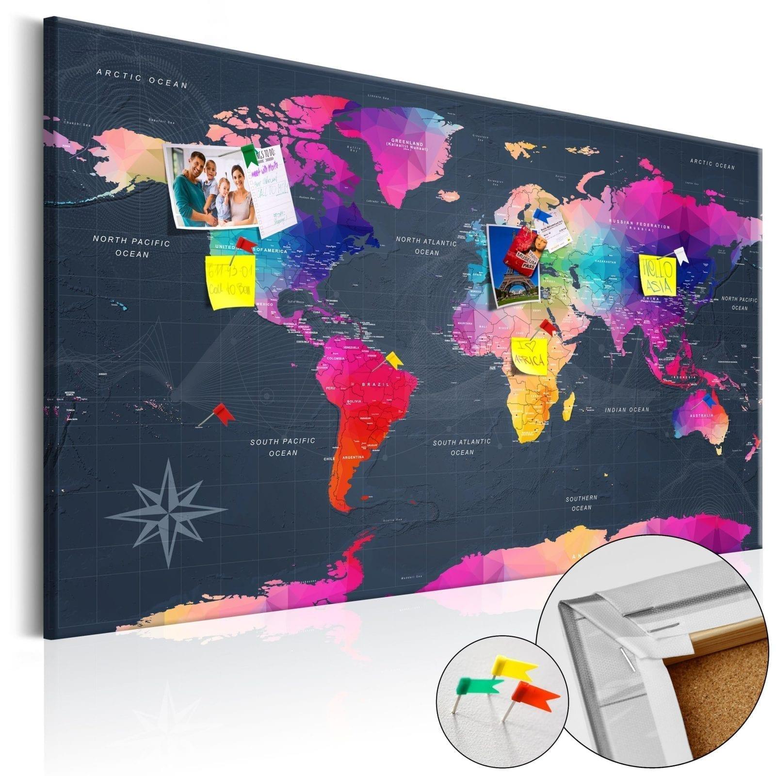 Tablero de corcho - Colourful Crystals 1 | Potspintura.com
