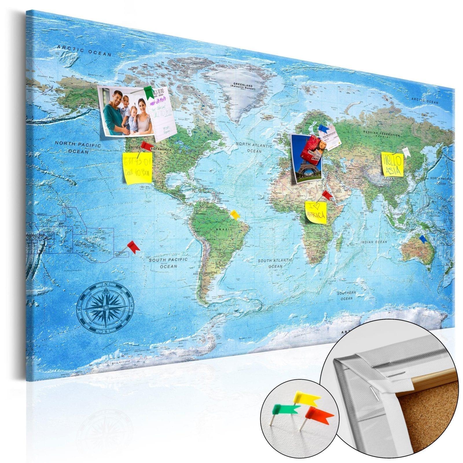 Tablero de corcho - Traditional Cartography 1   Potspintura.com