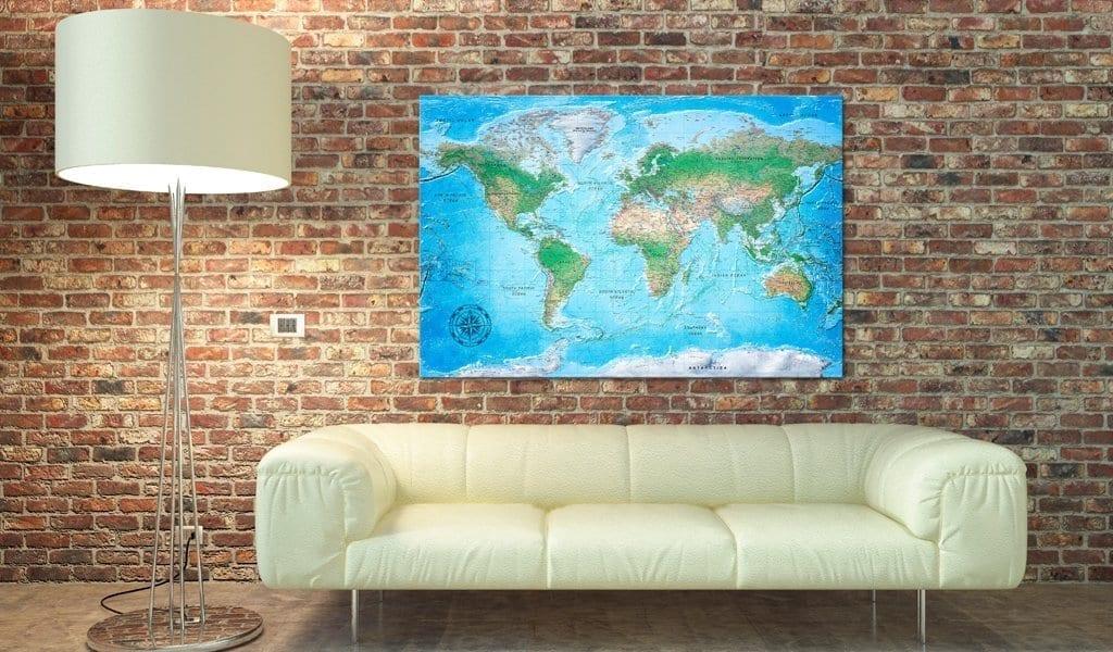 Tablero de corcho - Traditional Cartography 2   Potspintura.com