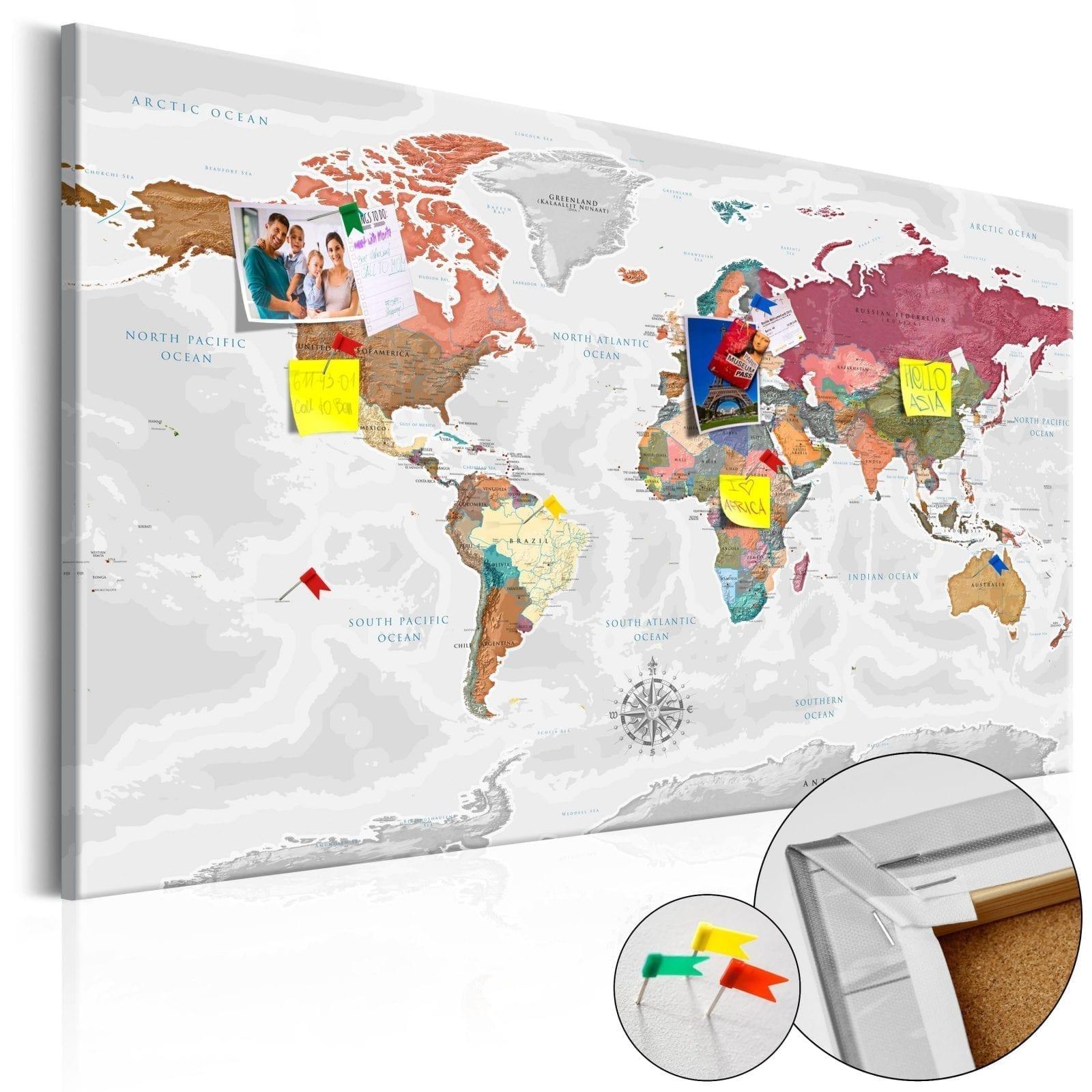 Tablero de corcho - Travel Around the World 1 | Potspintura.com