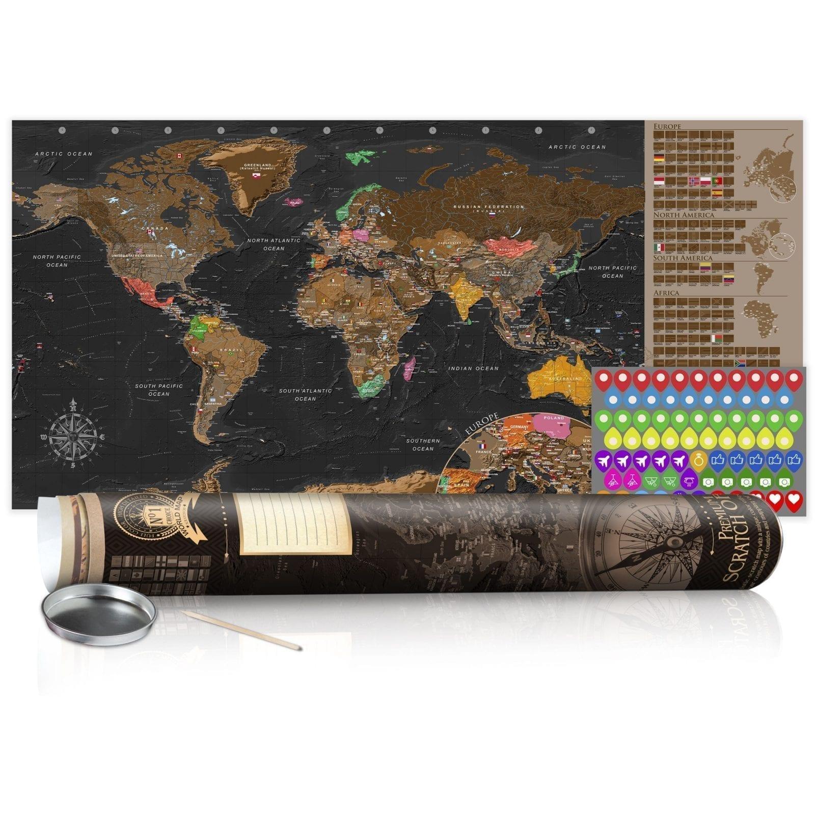 Mapa para rascar marrón 5   Potspintura.com