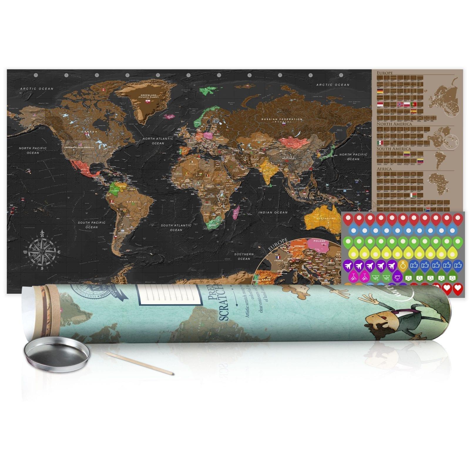 Mapa para rascar marrón 4   Potspintura.com