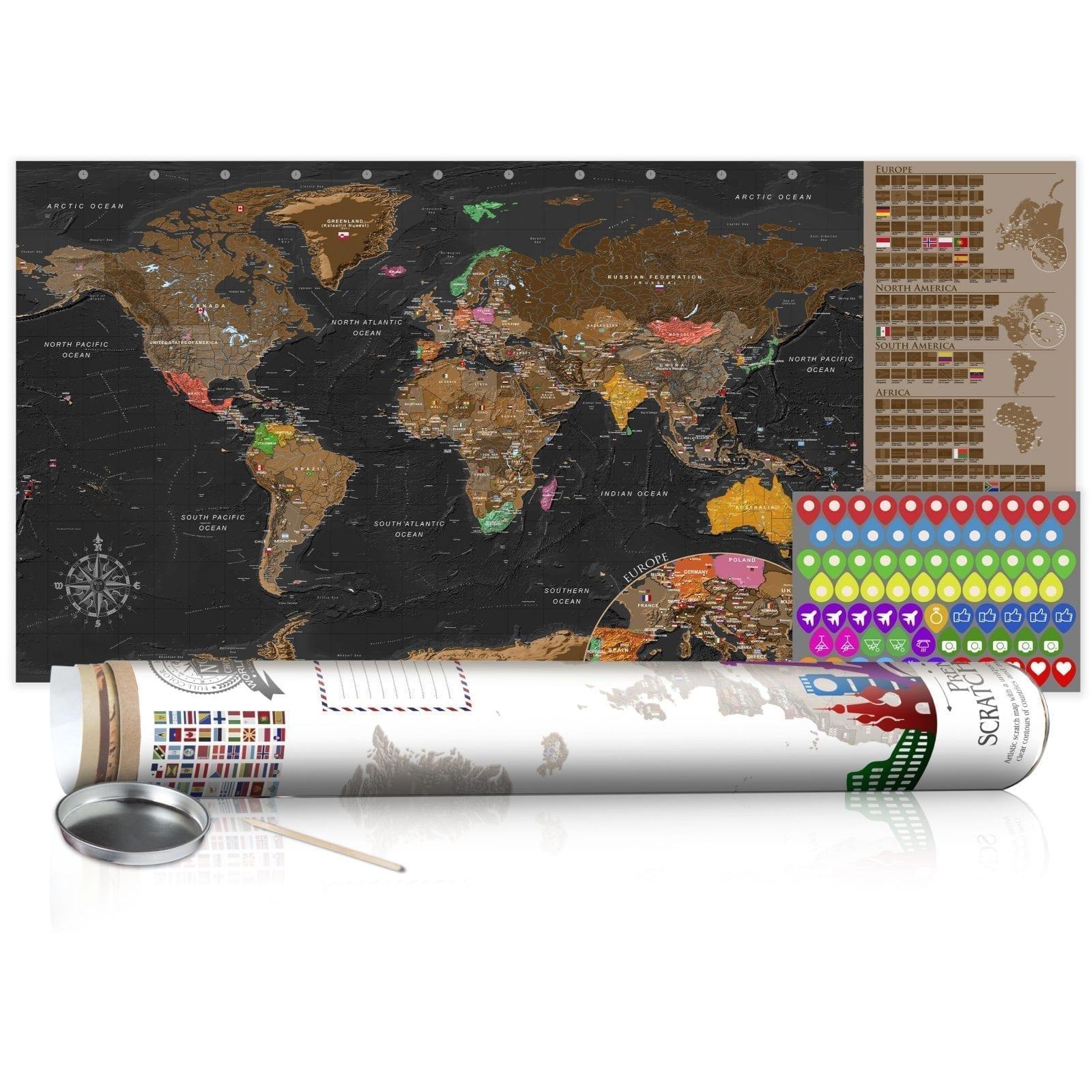 Mapa para rascar marrón 3   Potspintura.com