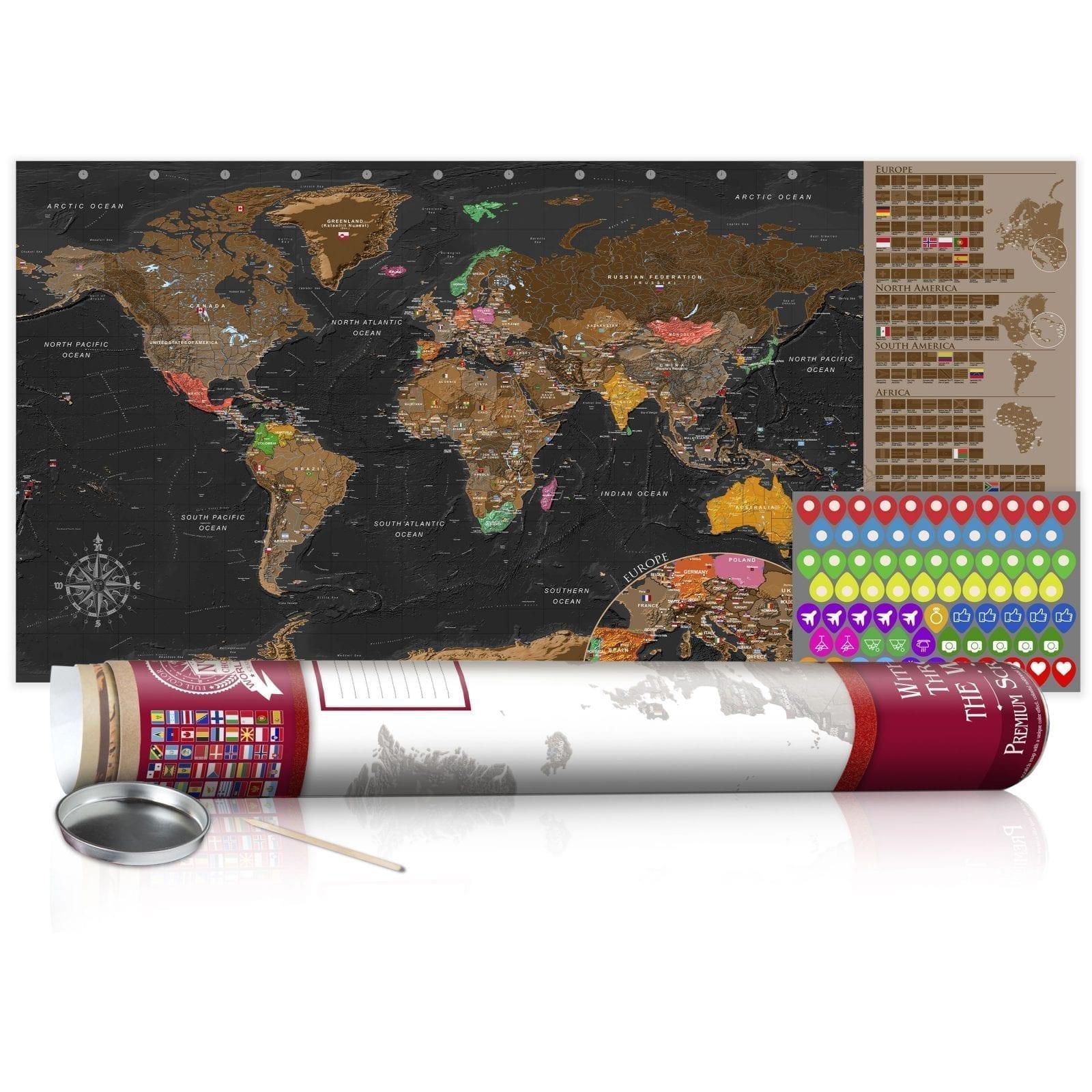 Mapa para rascar marrón 6   Potspintura.com