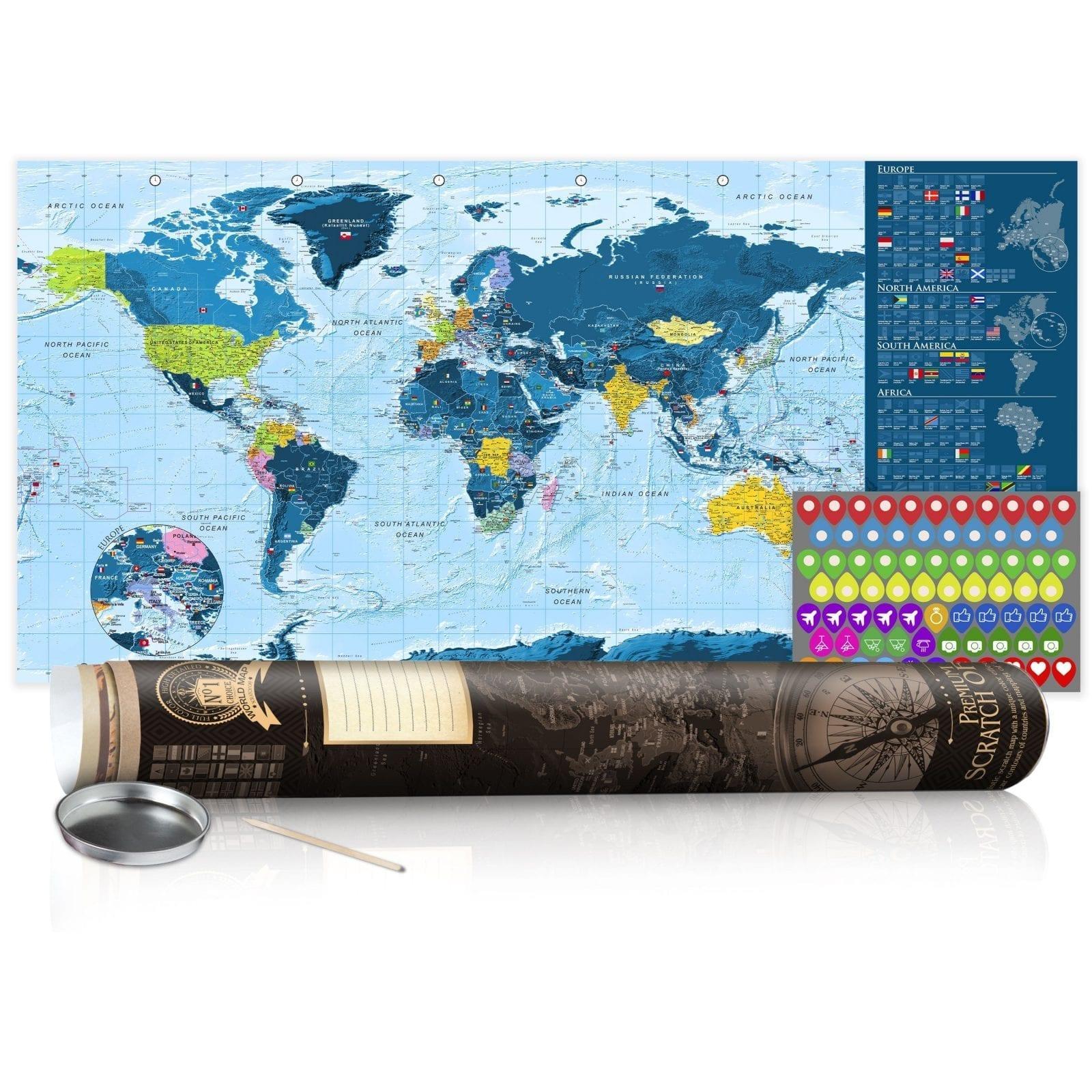 Mapa para rascar azul 6   Potspintura.com