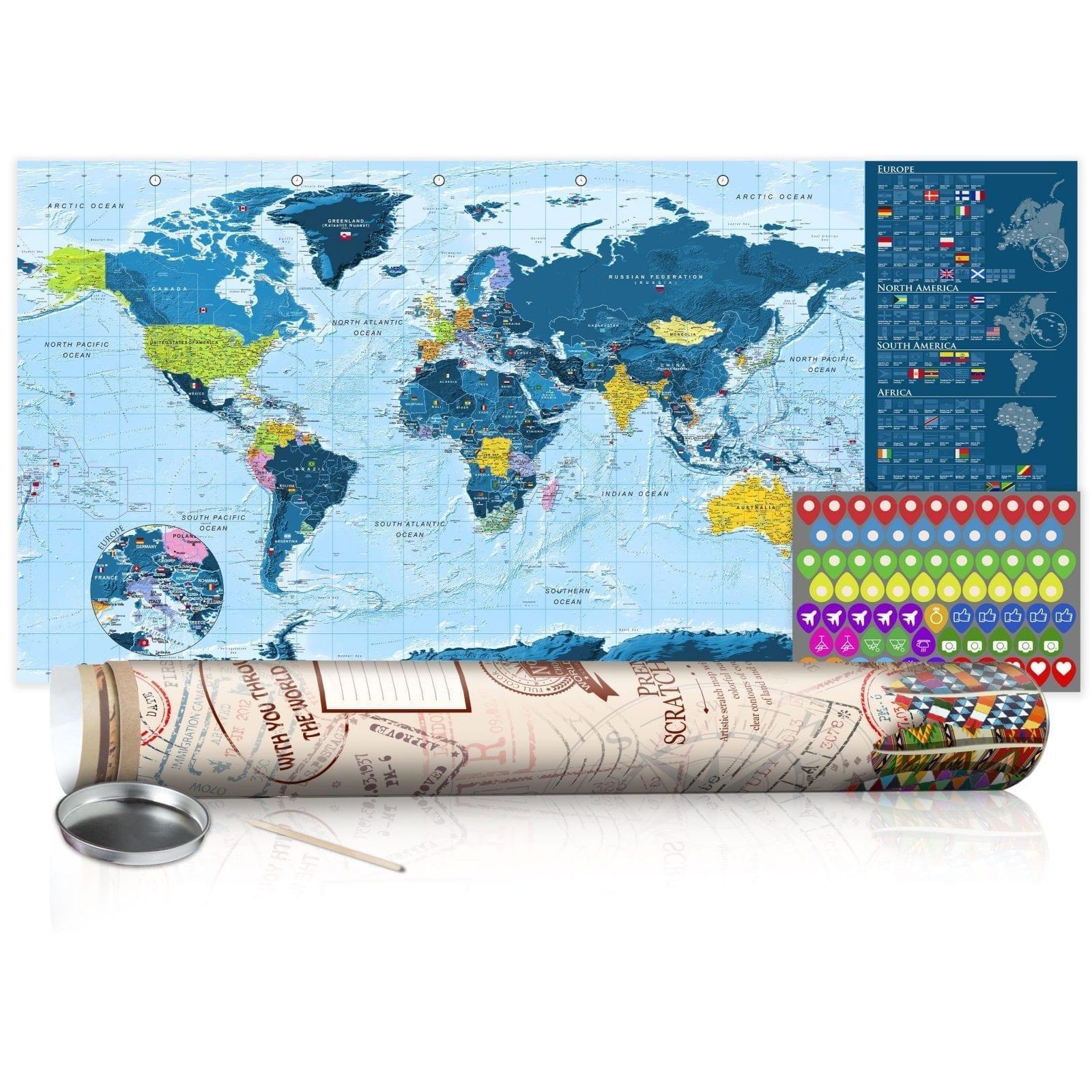 Mapa para rascar azul 1   Potspintura.com