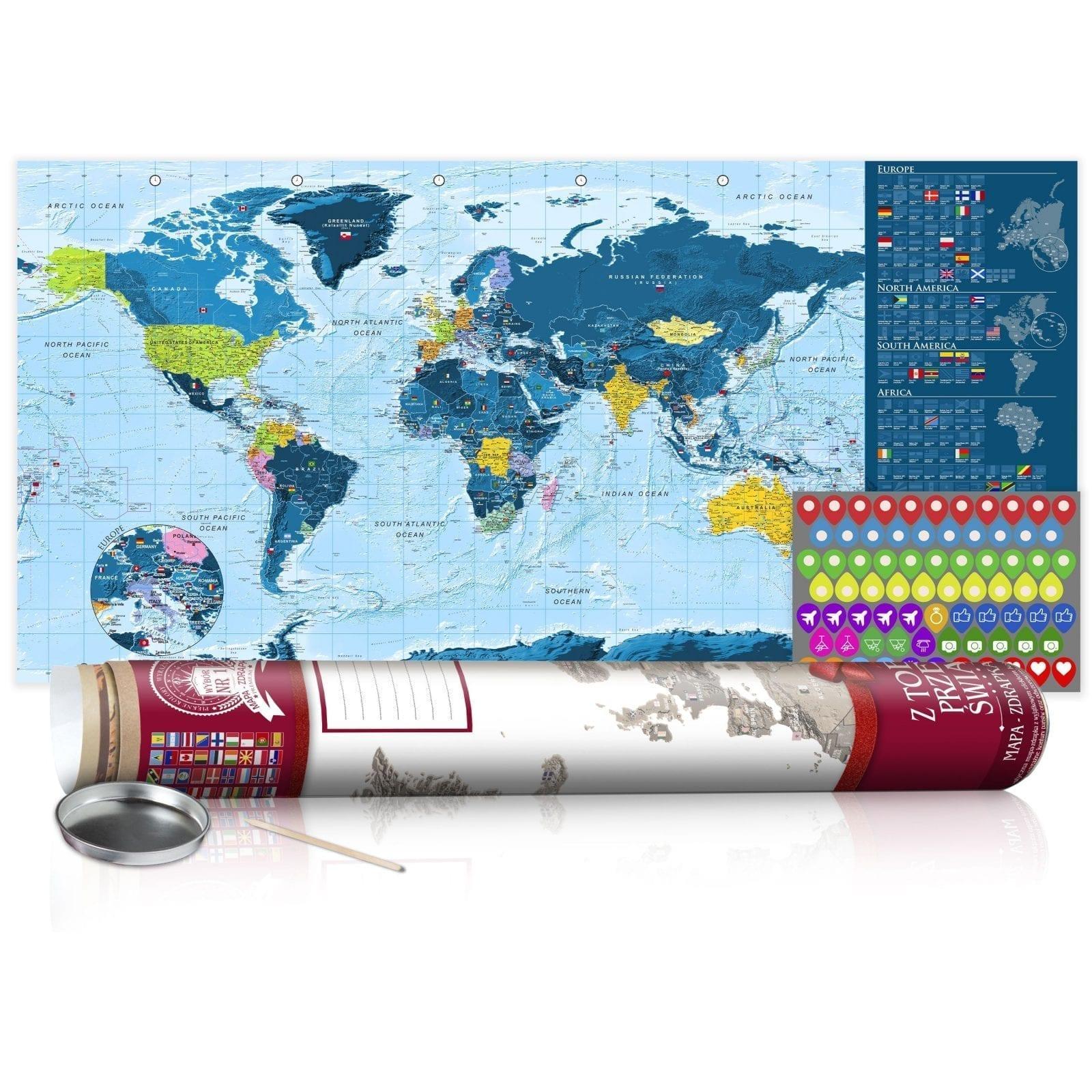 Mapa para rascar azul 5   Potspintura.com