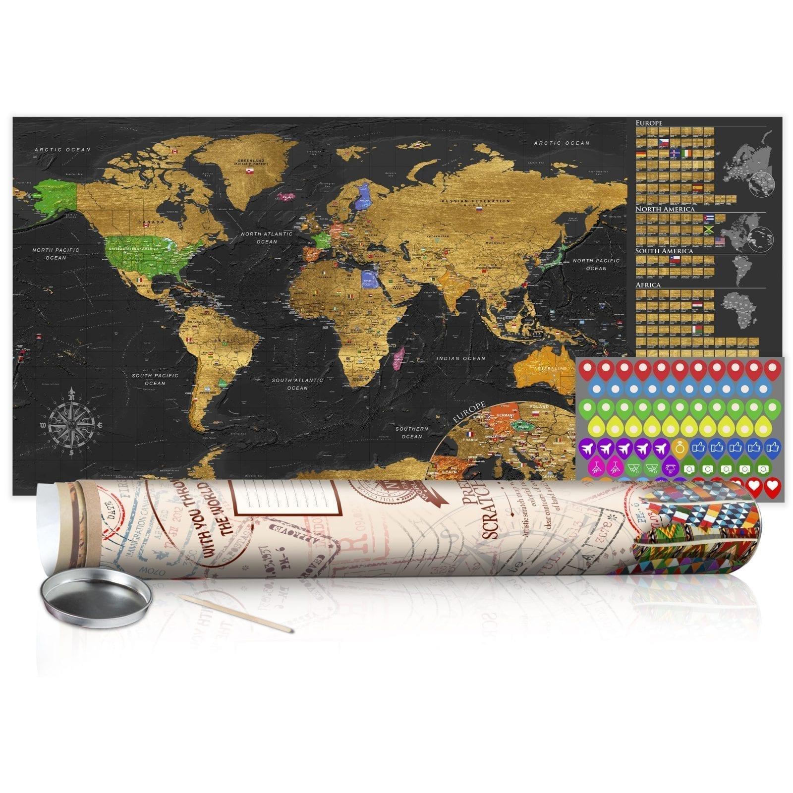 Mapa para rascar dorado 1   Potspintura.com