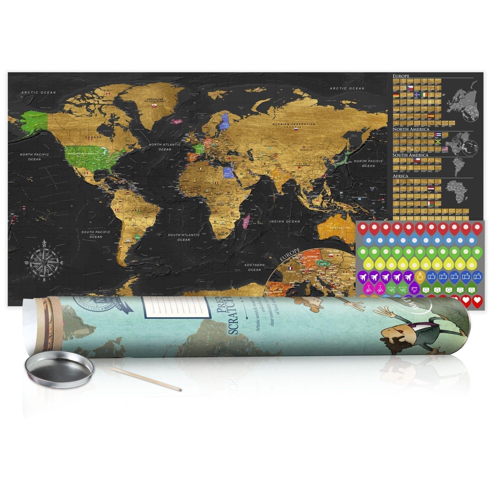 Mapa para rascar dorado 3   Potspintura.com