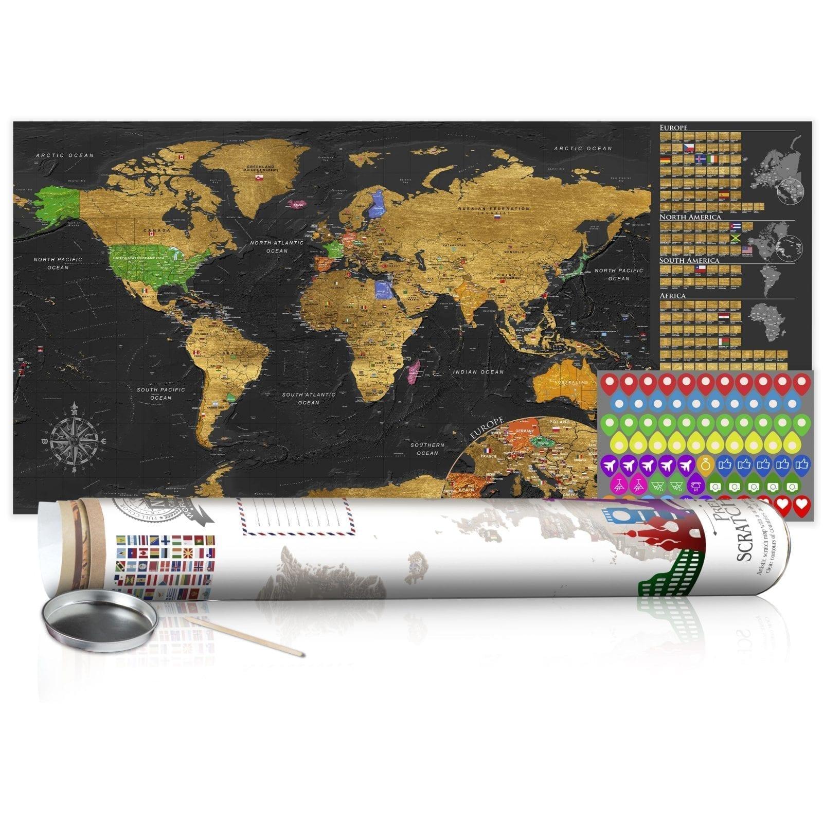 Mapa para rascar dorado 4   Potspintura.com