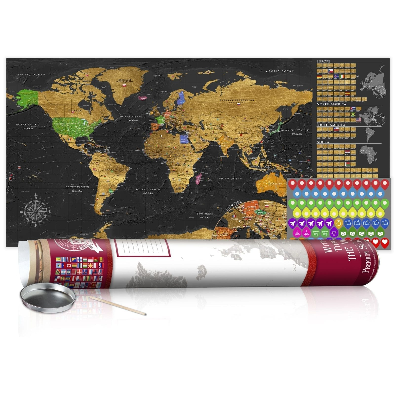 Mapa para rascar dorado 5   Potspintura.com