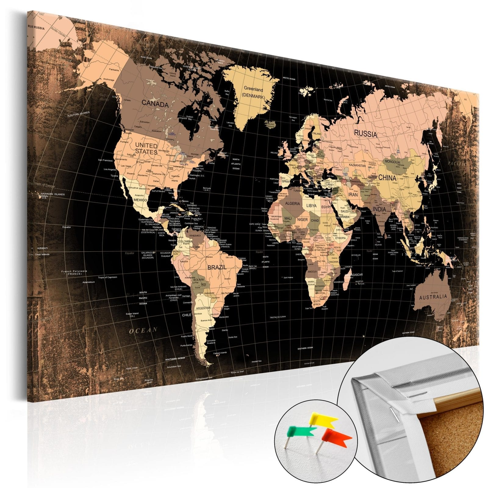 Tablero de corcho - Planet Earth 1   Potspintura.com
