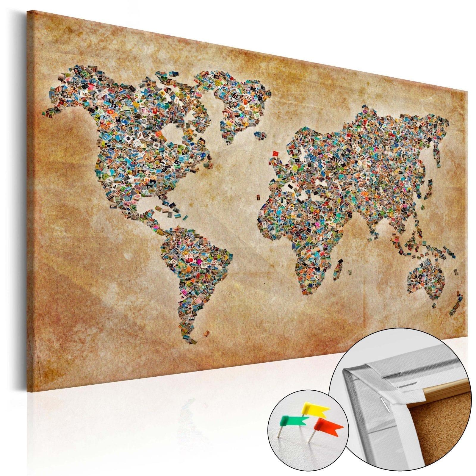 Tablero de corcho - Postcards from the World 1 | Potspintura.com