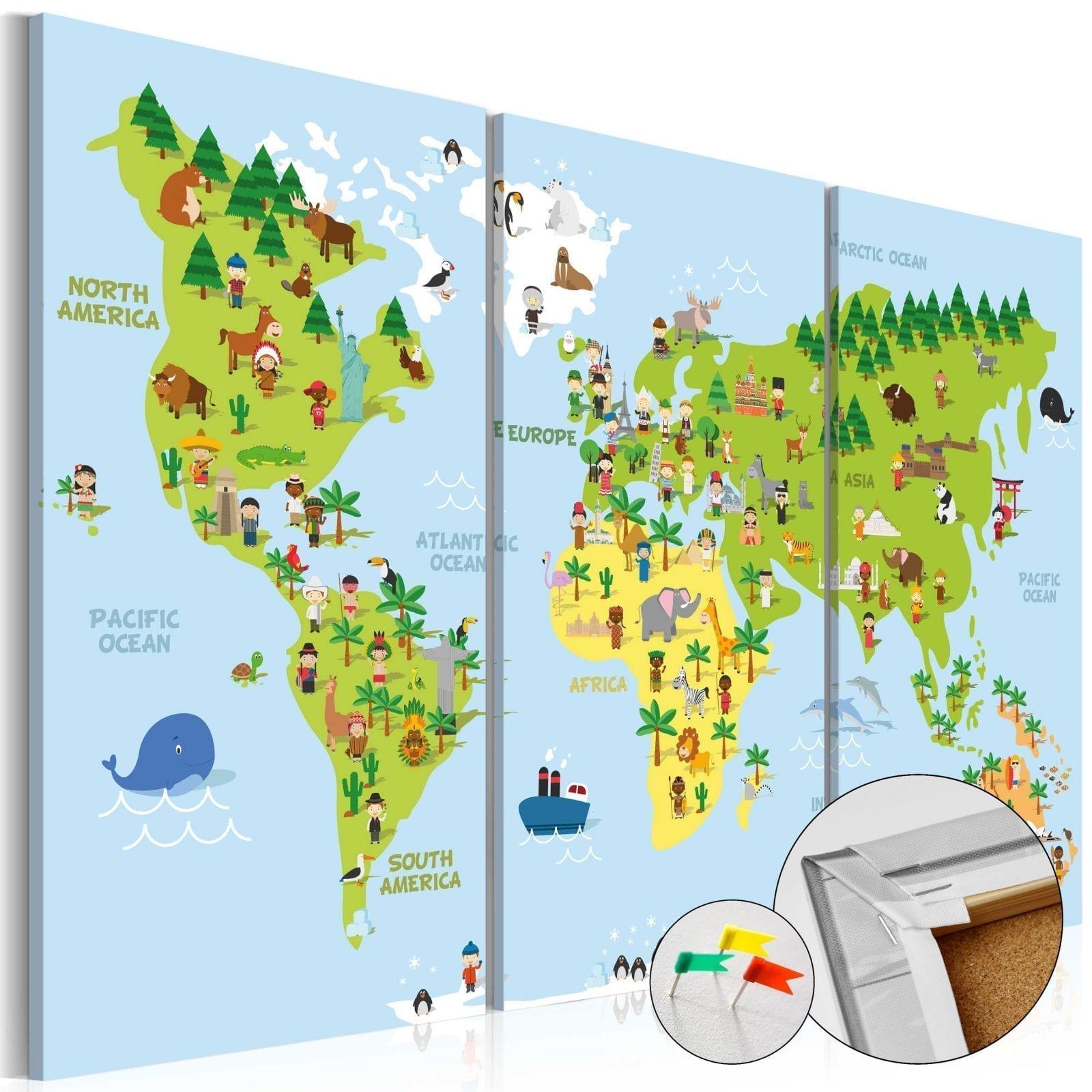 Tablero de corcho - Children's World 1   Potspintura.com