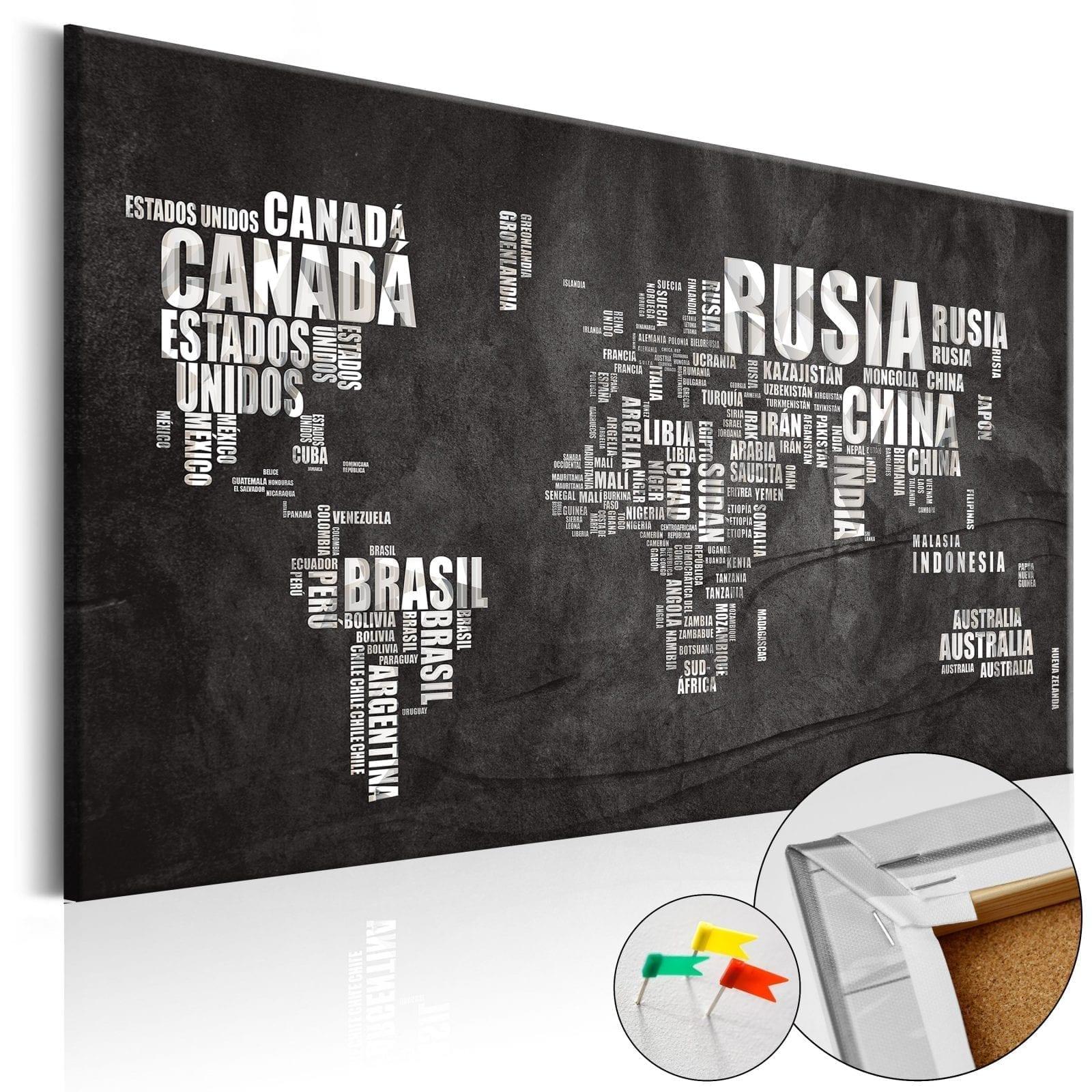 Tablero de corcho - Mundo Negro 1   Potspintura.com