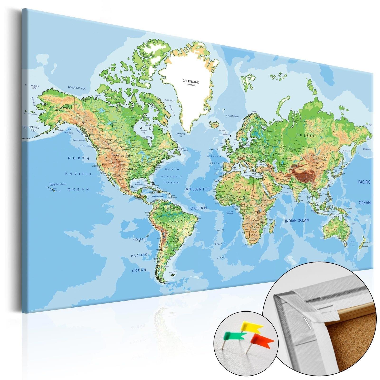Tablero de corcho - World Geography 1   Potspintura.com