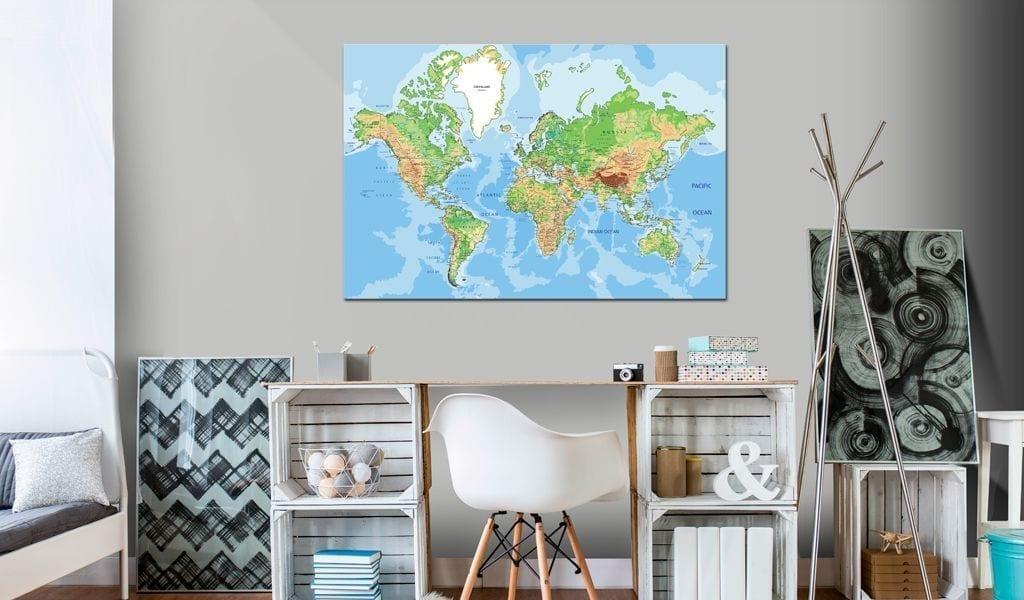Tablero de corcho - World Geography 2   Potspintura.com