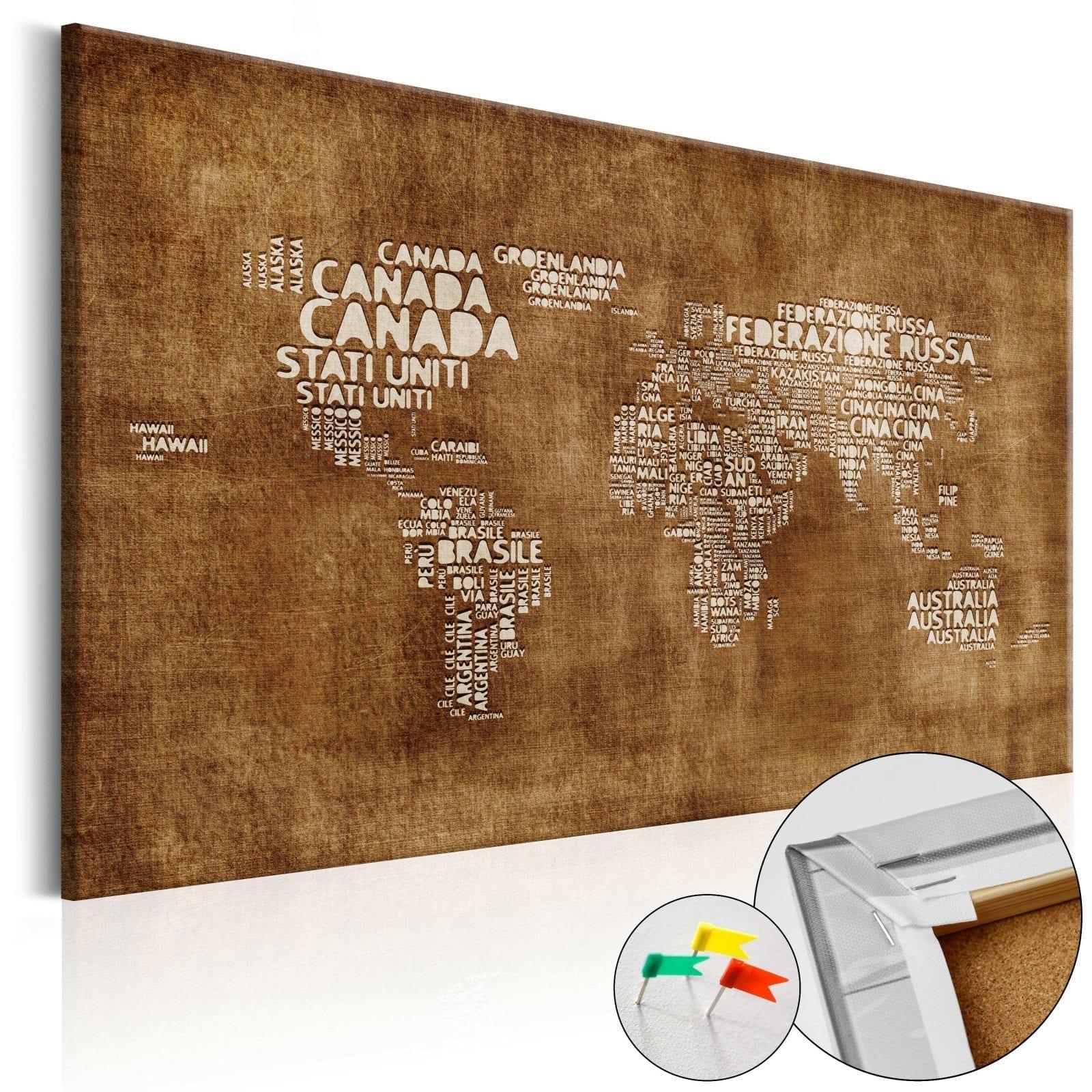 Tablero de corcho - The Lost Map (IT) 1 | Potspintura.com