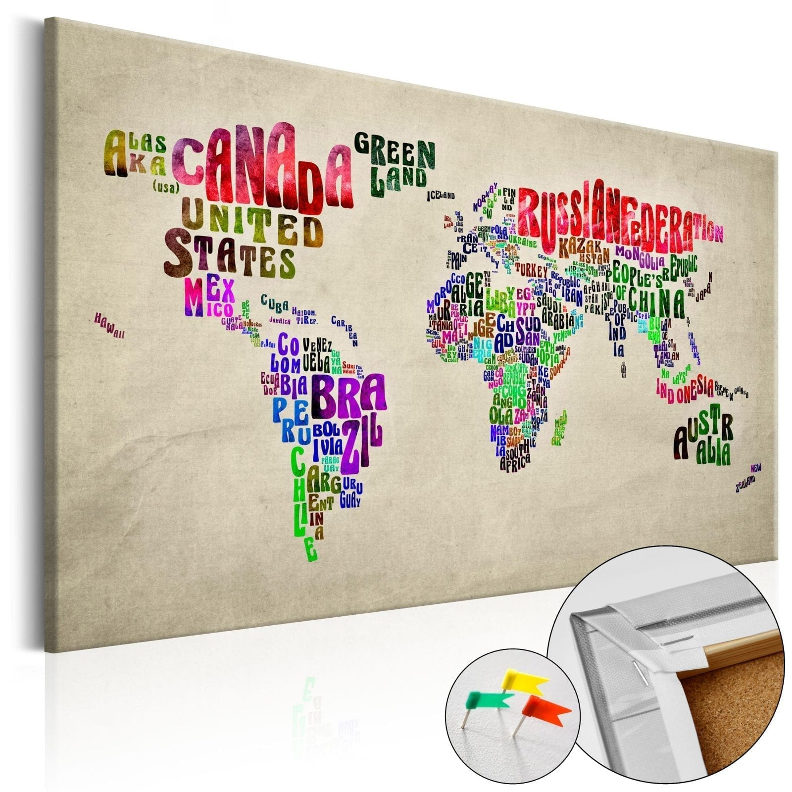 Tablero de corcho - Global Tournée (EN) 1 | Potspintura.com
