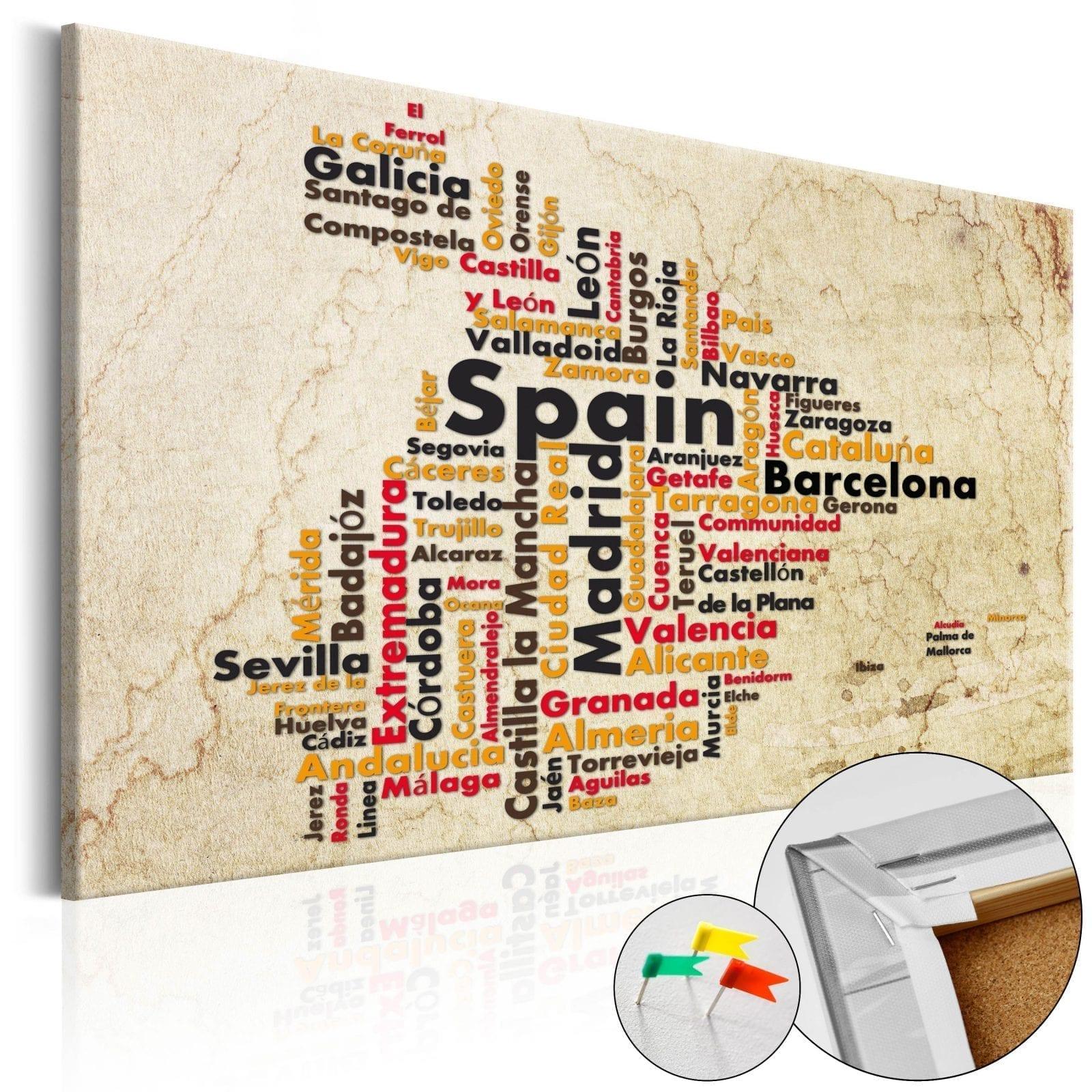 Tablero de corcho - Spanish Cities (ES) 1   Potspintura.com