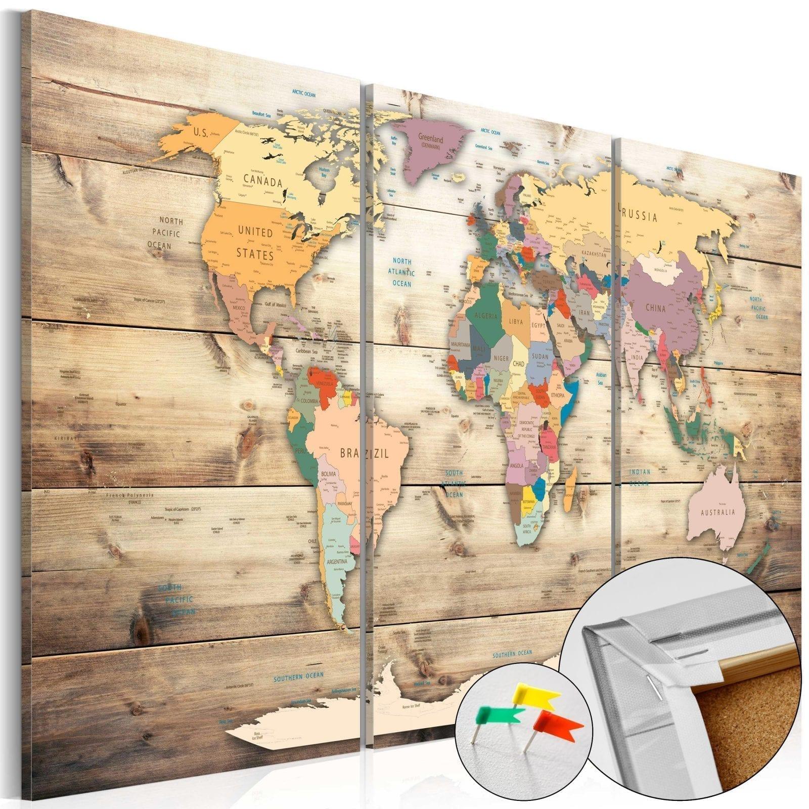 Tablero de corcho - Map of Dreams 1 | Potspintura.com