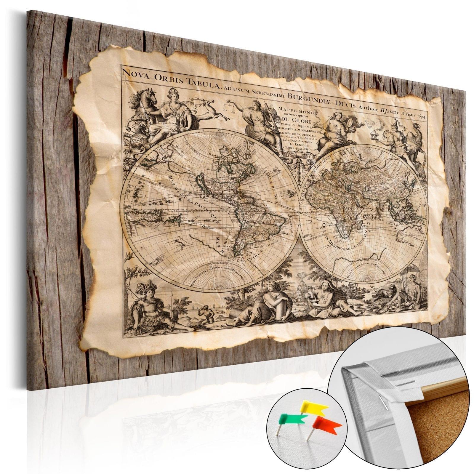 Tablero de corcho - Map of the Past 1 | Potspintura.com