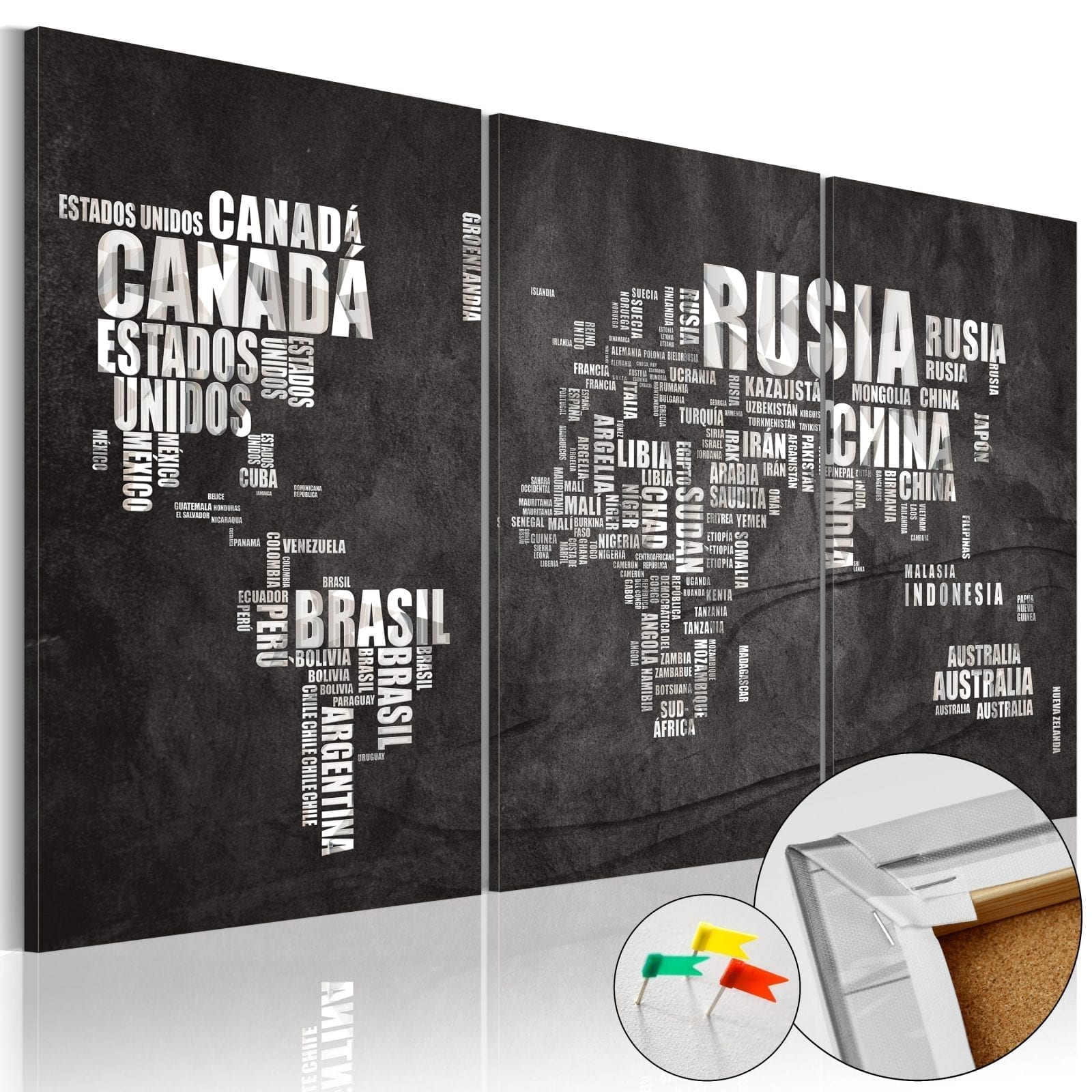 Tablero de corcho - El Mundo 1 | Potspintura.com