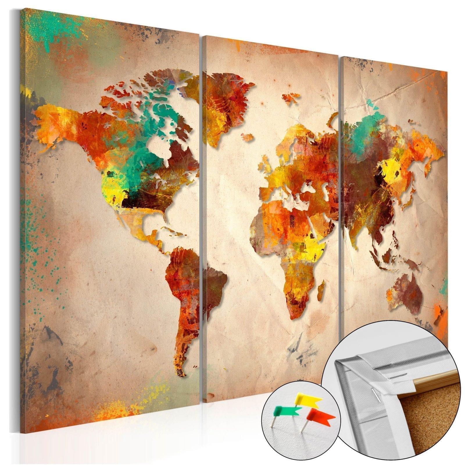 Tablero de corcho - Painted World 1 | Potspintura.com
