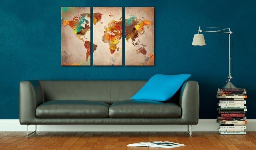 Tablero de corcho - Painted World 2 | Potspintura.com