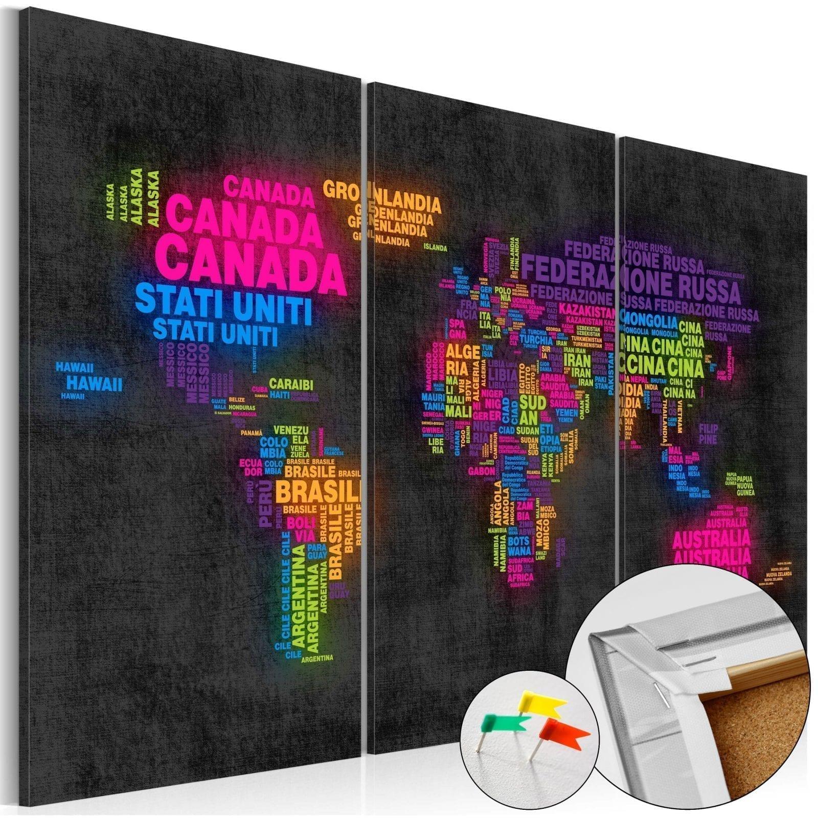 Tablero de corcho - Mappa del Mondo 1   Potspintura.com